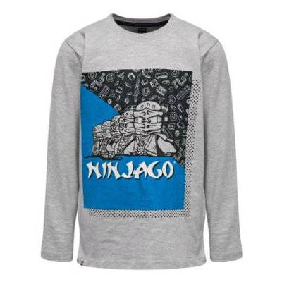 Lego wear NINJAGO Langærmet shirt Grey Melange - grå - Gr.104 - Dreng - Børnetøj - Lego