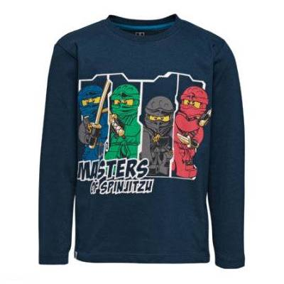 Lego wear NINJAGO Langærmet shirt Dark Navy - blå - Gr.Børnemode (2-6 år) - Dreng - Børnetøj - Lego