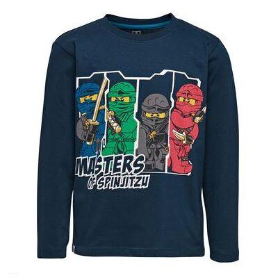 Lego wear NINJAGO Langærmet shirt Dark Navy - blå - Gr.122 - Dreng - Børnetøj - Lego