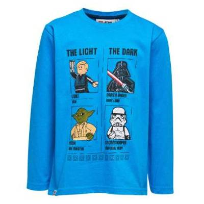 Lego wear NINJAGO Langærmet shirt blå - Gr.122 - Dreng - Børnetøj - Lego