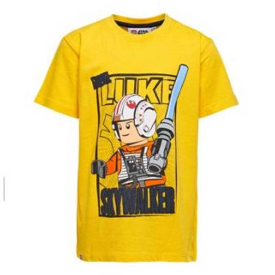 Lego wear Star Wars Langærmet shirt yellow - gul - Gr.Børnemode (2-6 år) - Dreng - Børnetøj - Lego