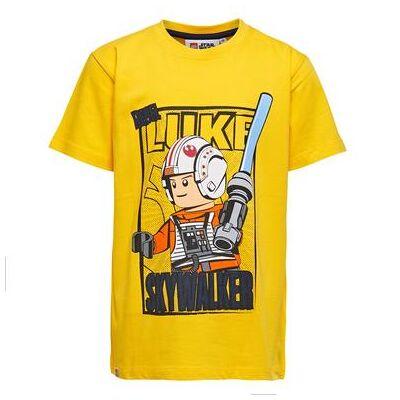 Lego wear Star Wars Langærmet shirt yellow - gul - Gr.128 - Dreng - Børnetøj - Lego