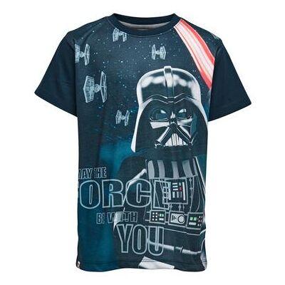 Lego wear Star Wars T-Shirt dark navy - blå - Gr.122 - Dreng - Børnetøj - Lego