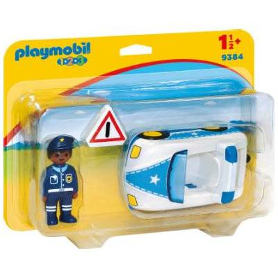 Playmobil ® 1 2 3 Politibil 9384 - hvid - Børnetøj - Playmobil