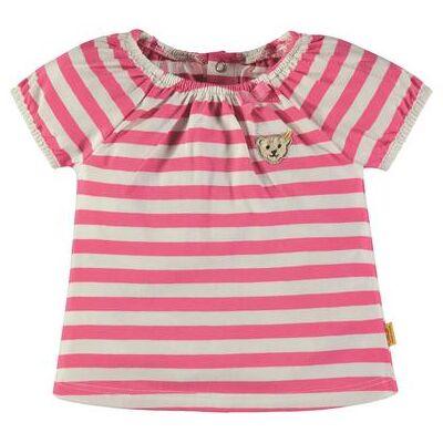 Steiff  Girls T-Shirt, pink - rosa/pink - Gr.Babymode (6-24 måneder) - Pige - Børnetøj - Array