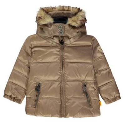 Steiff Vinterjakke brun - beige - Gr.104 - Dreng - Børnetøj - Array