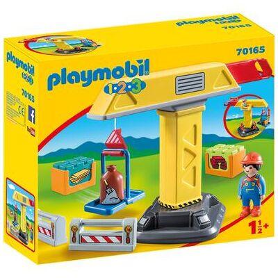 Playmobil 1 2 3 Byggekran 70165 - flerfarvet - Børnetøj - Playmobil