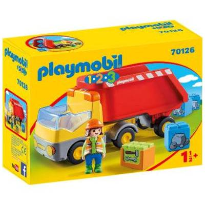 Playmobil 1 2 3 Tipvogn 70126 - flerfarvet - Børnetøj - Playmobil