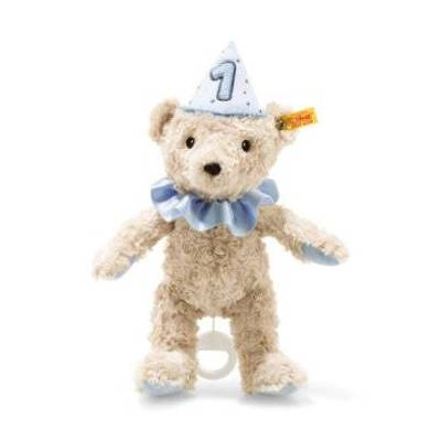 Steiff 1. fødselsdag bamse dreng musikboks, blå, 26 cm - beige - Børnetøj - Array
