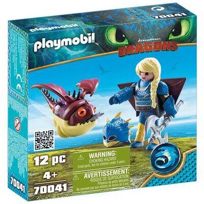 Playmobil DRAGONS Astrid med flydragt og umættelig fyld - Børnetøj - Playmobil