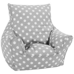 Knorr® Toys Børne sækkestol - Dots grey - grå