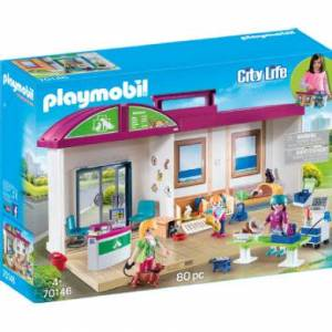 Playmobil City Life Carrier Veterinærklinik 70146