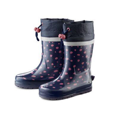 Tchibo Gummistøvler til børn, med prikker, Tchibo Blå med rosé prikker 24/25 - Børnetøj - Tchibo