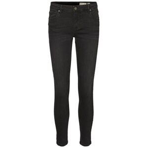 VERO MODA Vmteresa Normal Waist Skinny Fit Jeans Kvinder Sort Black