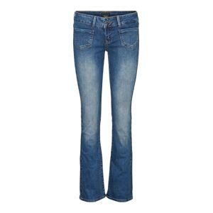 VERO MODA Vmdina Low Waist Skinny Fit Flared Jeans Kvinder Blå Medium Blue Denim