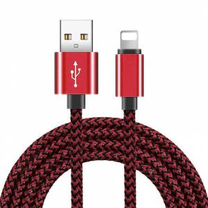 Gearbest 3m 2m 1m Braided USB Charging Data Cable for iPhone 8 7 6 6S Plus X XS Max XR 11 Pro Charger Cables