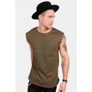 Urban Classics TB1562 Open Edge Sleeveless T-shirt Olive