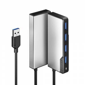Alogic Fusion SWIFT 4i1 USB-A Hub - Space Grey