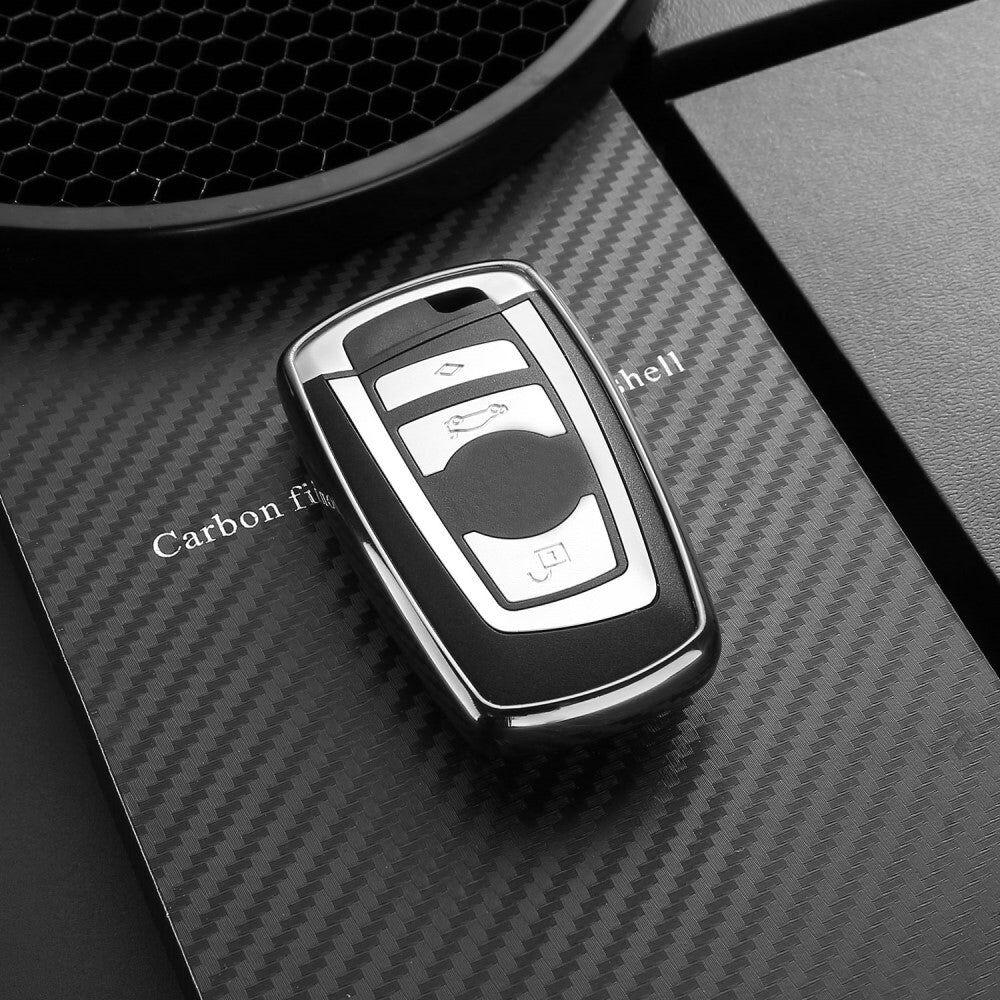 DUX DUCIS BMW Bilnøgle Cover (BMW Modeller før 2017) - Sølv