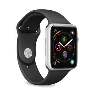 Puro Apple Watch (42-44mm) Puro ICON Silikone Rem i Str. S/M & M/L - Sort