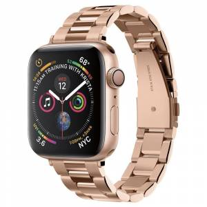 Spigen Apple Watch (38-40mm) Spigen Modern Fit Band - Rustfri Stål Rem inkl. Stifter - Rose Gold