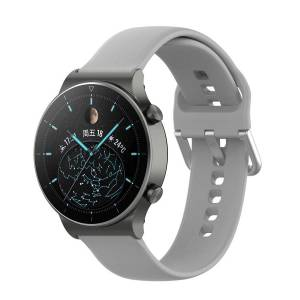 MOBILCOVERS.DK Smartwatch Buckle Silikone Rem (22mm) m. Spænde - Grå - Size L