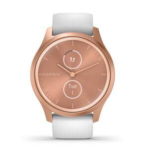 Garmin Vivomove Style smartwatch armbåndsur i rosaguldfarvet aluminium med hvid silikonerem