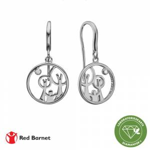 Aagaard AAG Red Barnet, ørehængere, sølv m/ 2 x 0,01ct LG diamant TW/SI2, 1670-KV-RB-S
