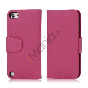 Apple Magnetisk Kunstlæder Kreditkort tegnebog Cover til iPod Touch 5 - Rose