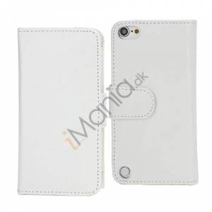Apple Magnetisk Folio Bog Læder Kreditkort tegnebog taske til iPod Touch 5 - Hvid