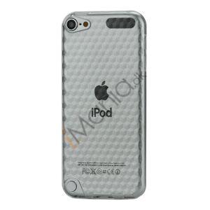 Apple iPod Touch 5 Sekskantet Diamant TPU Gel Skin Cover - Gennemsigtig