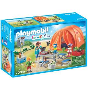 Playmobil Campingferie med stort telt - PL70089 - PLAYMOBIL Family Fun