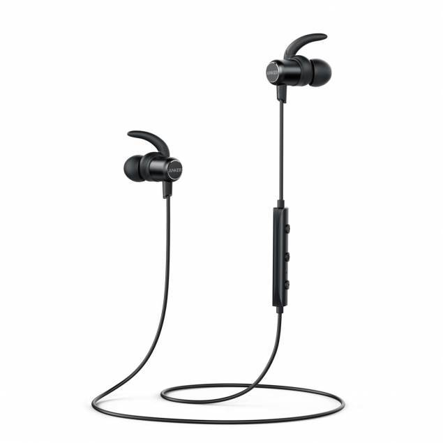 Anker SoundBuds Slim Bluetooth sort in ear headset til iPhone osv