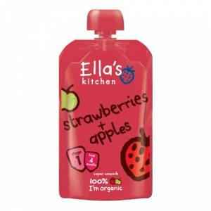 Ellas Kitchen Babymos Jordbær/Æble Ø 4 Mdr (120 gr)
