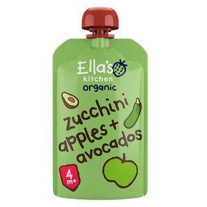 Ellas Kitchen Babymos courgette, æble & avocado 4 mdr Ø (120 g)