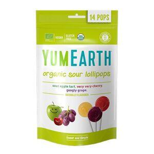 Yum Earth Slikkepinde Ø Yum Earth æble, kirsebær og vindrue