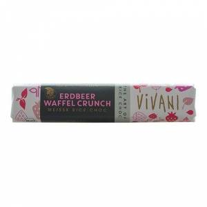 Vivani jordbær crunch bar Ø (35 g)