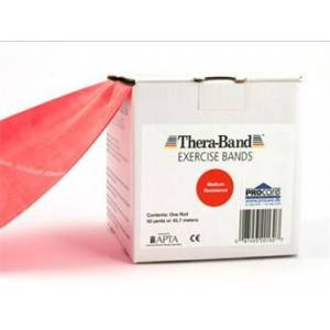 Thera Band Thera-Band elastik bånd 45m (Rød - Medium)