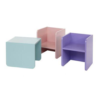 MANIS-H 3-i-1 Bord/stol Rosa - Babymøbler - Array