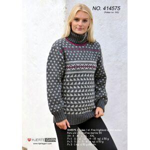 Mønsterstrikket sweater