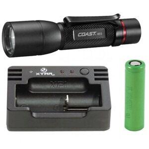 COAST HX 5 + Nitecore i1 USB oplader + 3.6V Li-ion batteri