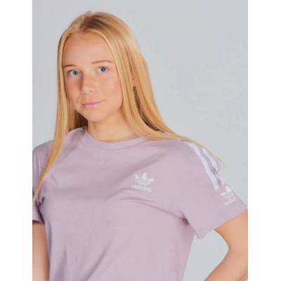 Adidas Originals, NEW ICON TEE, Lilla, T-shirt/toppe till Pige, 146 cm - Børnetøj - Adidas Originals