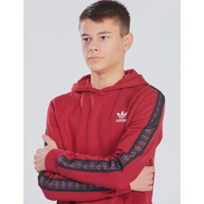 Adidas Originals, TAPE HOODIE, Rød, Hættetrøjer till Dreng, 152 cm - Børnetøj - Adidas Originals