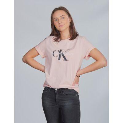 Calvin Klein, MONOGRAM SS T-SHIRT, Rosa, T-shirt/toppe till Pige, 14 år - Børnetøj - Calvin