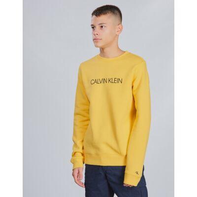 Calvin Klein, INSTITUTIONAL SWEATSHIRT, Gul, Trøjer/Cardigans till Dreng, 14 år - Børnetøj - Calvin