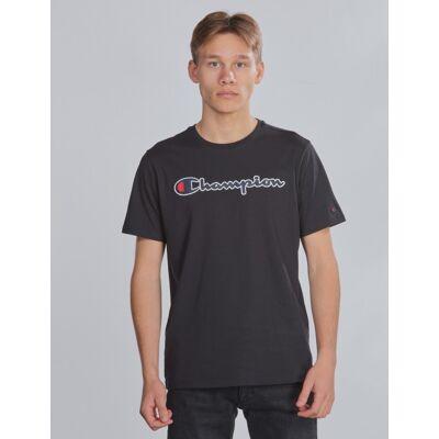 Champion Rochester, Crewneck T-Shirt, Sort, T-shirt/toppe till Dreng, M - Børnetøj - Champion Rochester