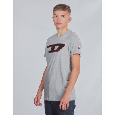 Diesel, TJUSTDIVISION-D T-SHIRT, Grå, T-shirt/toppe till Dreng, 12 år - Børnetøj - Diesel