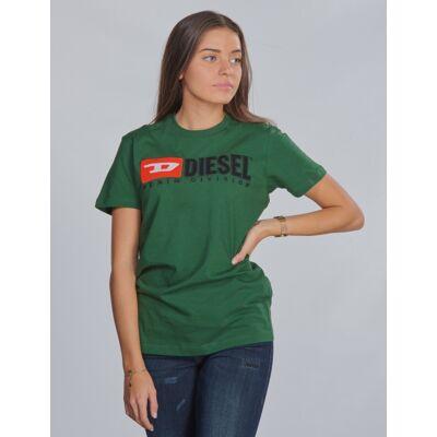 Diesel, TJUSTDIVISION T-SHIRT, Grøn, T-shirt/toppe till Pige, 10 år - Børnetøj - Diesel