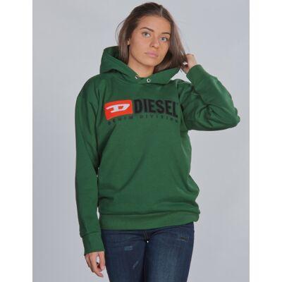 Diesel, SDIVISION OVER SWEAT-SHIRT, Grøn, Hættetrøjer till Pige, 10 år - Børnetøj - Diesel