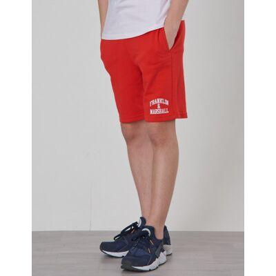 Marshall Franklin & Marshall, Badge Logo Sweat Shorts, Rød, Shorts till Dreng, 10-11 år - Børnetøj - Marshall